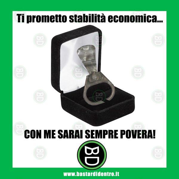Ti prometto stabilità economica