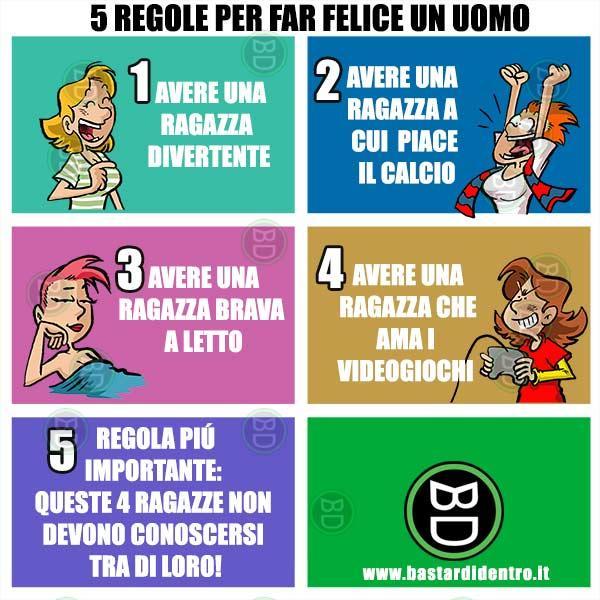 5 regole per far felice un uomo