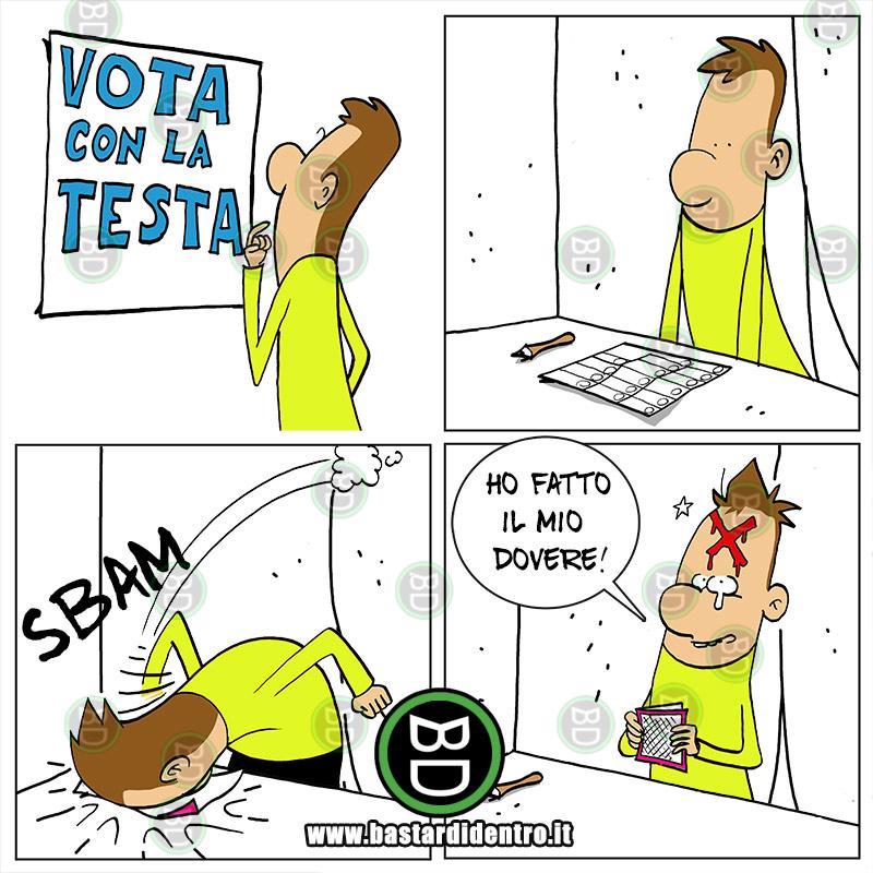 Vota con la testa!