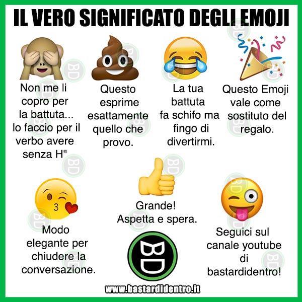 Il Vero Significato Degli Emoji Immagini E Vignette Divertenti
