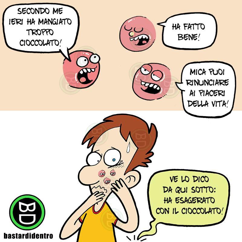 Esagerare con il cioccolato