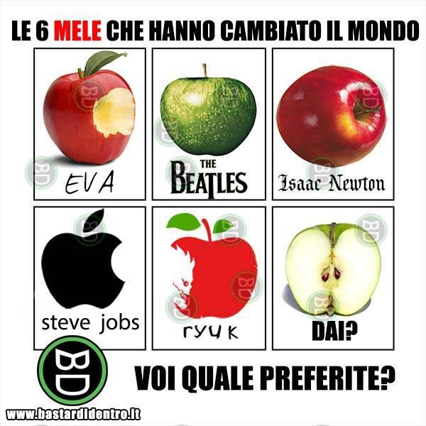 Le 6 mele che hanno cambiato il mondo