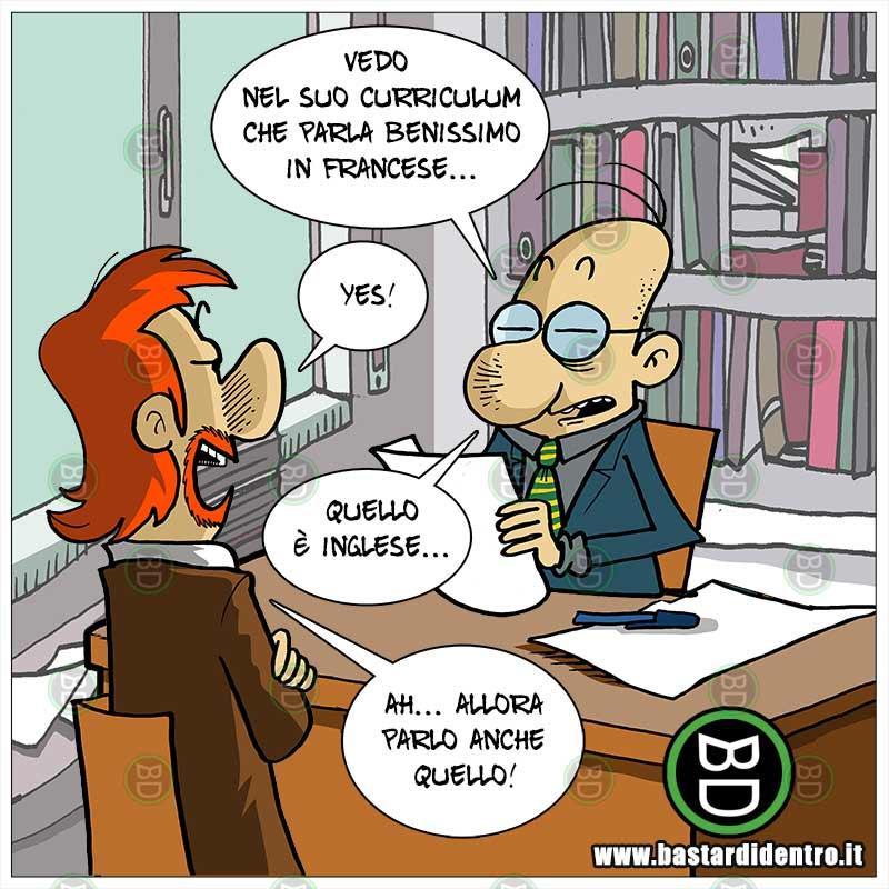 Poliglotta al colloquio di lavoro