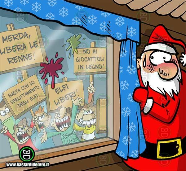 Babbo Natale Immagini Divertenti.Babbo Natale Contestato Immagini E Vignette Divertenti